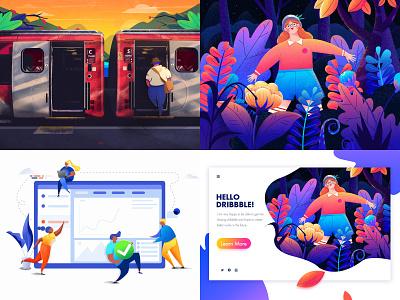 2018 dream ui colour design illustration