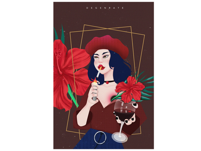 The Flower! travel dream landscape design colour illustration