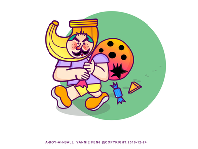 Ah Ball's working day_Tusday branding logo dream design illustration