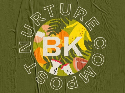 Nurture BK Logo earth recycle reuse reduce earthday environmentalism intersectional environmentalism sustainability nurture bk brooklyn compost logo design design logo