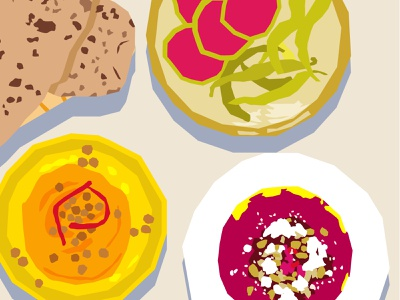 Mezze hummus food digital drawing drawing challenge drawing illustration still here still life stilllife mezze snacks snack
