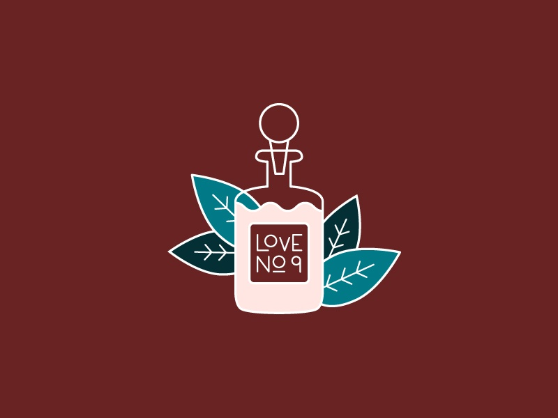 Potions lovepotion potions leaves plants design witchy 30daychallenge practice icon illustration drawing