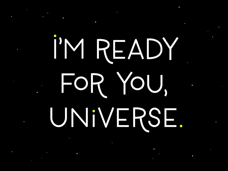 Universe handmade typography lettering space universe clairvoyant psychic future witchy 30daychallenge practice drawing