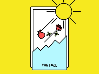 The Fool spiritual journey fortune future thefoot psychic tarot witchy 30daychallenge icon illustration drawing