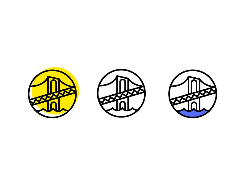 Bridge badge stamp mark wordmark identity brooklynbridge brooklyn bridge logo