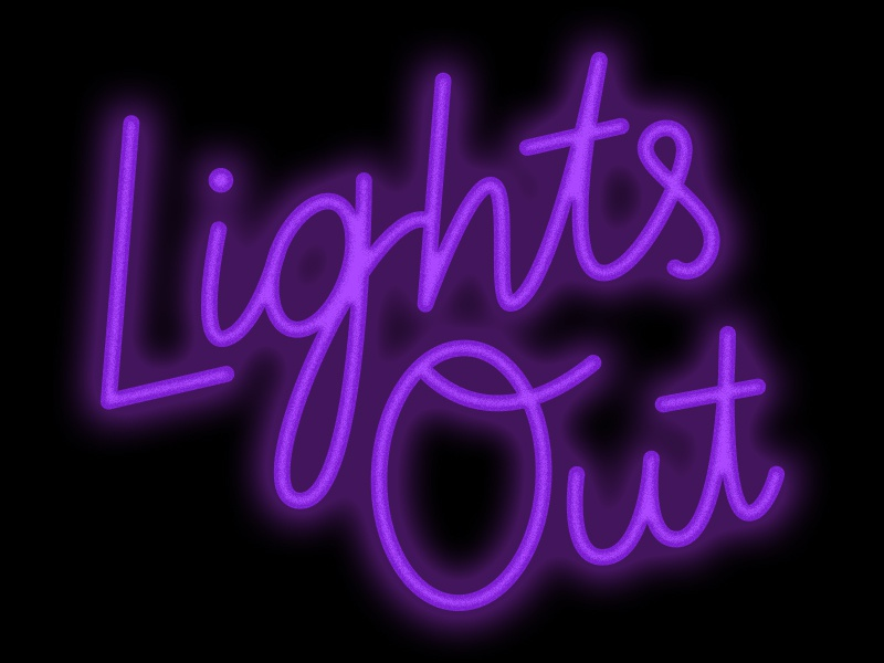 Lights Out typography lightsout script sale neon lettering design illustration friday handlettering glow digital cybermonday blackfriday