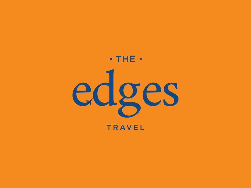 The Edges Travel logo concept logotype simple hotel serif font typography flight illustration logodesign branding concept logo travel