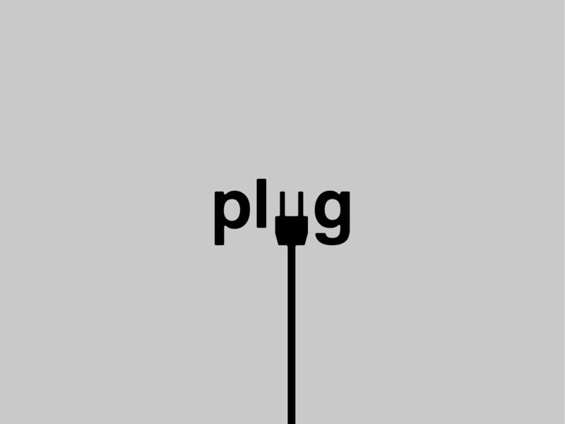 Plug Logotype minimal plug vector design typography logotype simple illustration graphicdesign branding logo
