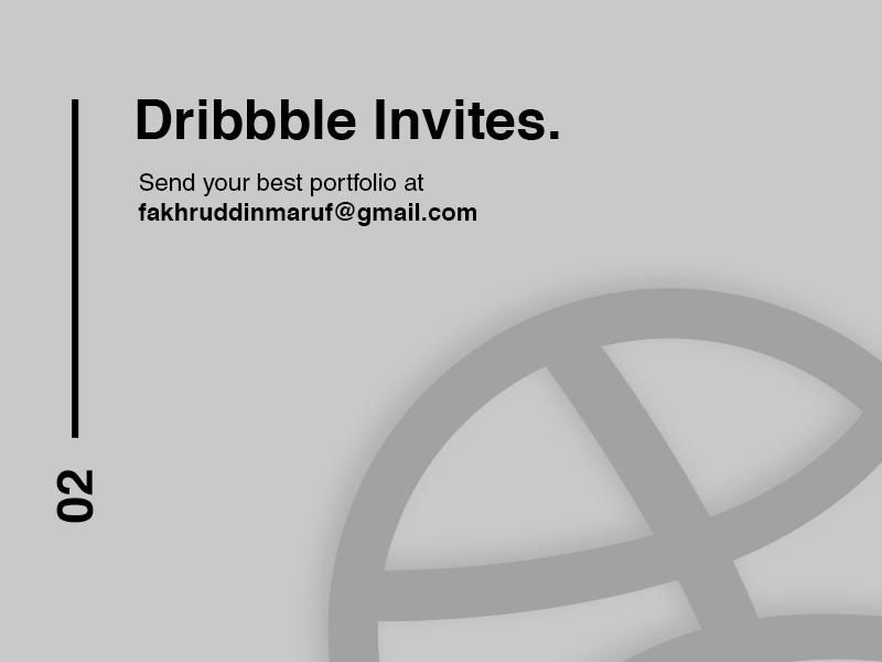 2 Dribbble Invitation simple dribbble dribbbleinvites invitation graphicdesign design typography logo logodesign