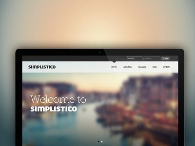 Simplistico Theme web design clean modern blur font