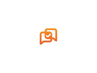Survey Icon / Logo survey logo icon orange conversation check mark