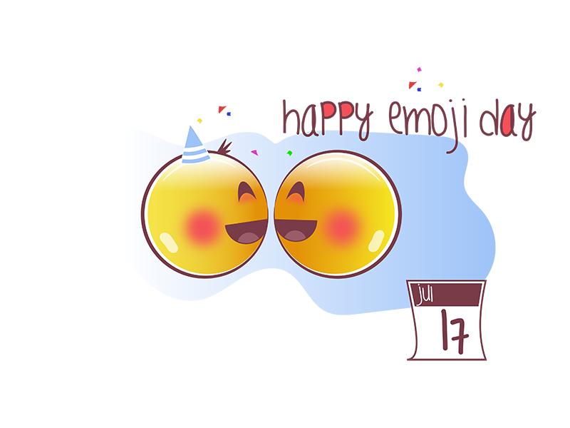Happy Happy World Emoji Day 🎉 celebrate inspiration illustration 17 jul happy day emoji