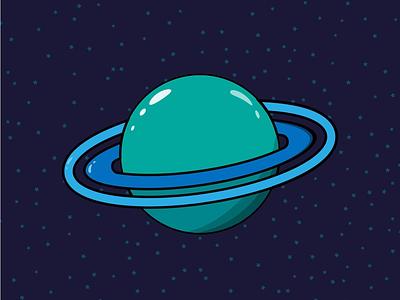 Planet Mentos space illustrator illustration vector green planet