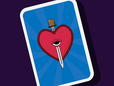 Heart in a card. heart blue vector art adobe illustrator design graphic illustration illustrator vector