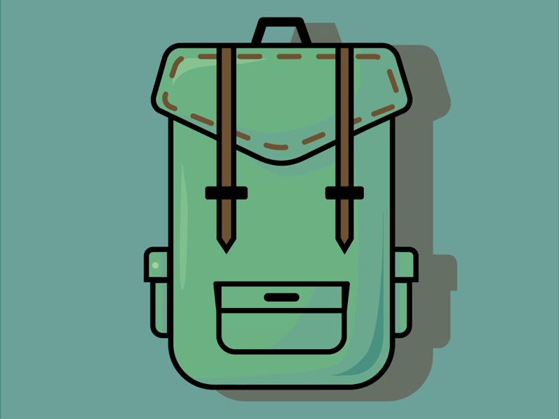 Going Green vector green illustrator backpack