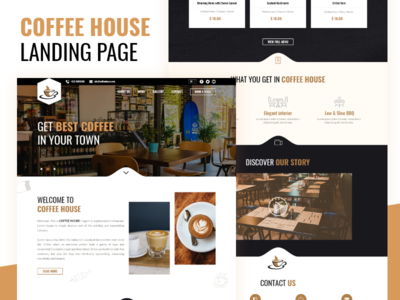 CoffeeHouse Landing Page User Interface & User Experience Design