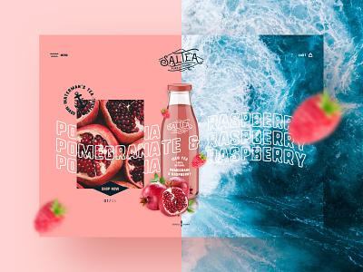 Saltea 1 typography digital ux design brand identity interface user experience iced tea tea webdesign web healthy lifestyle healthy food