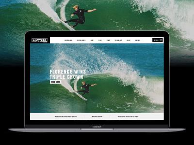 Pyzel Surfboards Website digitaldesign surfboards surf