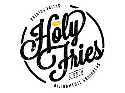 Holy Fries stationery graphicdesign typography print identity logoideas logo brand branding