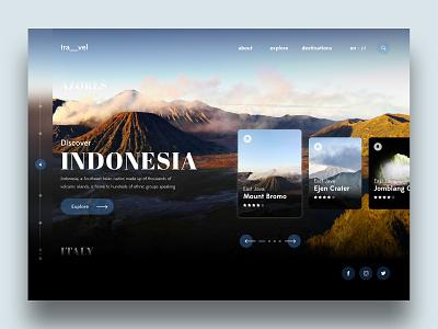 Travel Landing Page userinterfacedesign userinterface designinspiration uiinspiration website digitaldesign indonesia travel inteface uiuxdesign ux ui