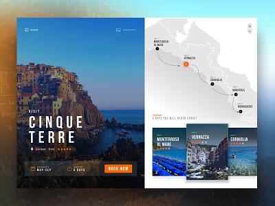 Cinque Terre Tours userexperiance userinterface webdesign tours cinqueterre italy uiinspiration uiuxdesign uidesign uiux ux ui