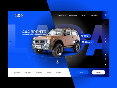 Lada Niva 4x4 auto layout 4x4 lada desktop responsive webdesign web userinterfacedesign uiuxdesign uiux design ux ui