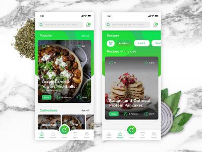 Recipe App Gatherlicious user experience design cookbook recipe app iphone user interface mobile app ux ui
