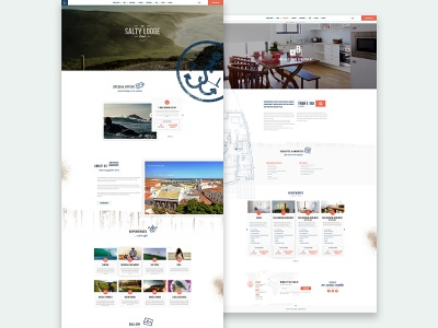 Salty Lodge webdesign website algarve portugal uiux ux ui surf salt sea hotel salty orange blue
