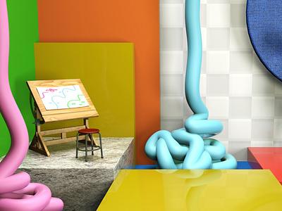 Art creative color tube paint drawing art artist imagination museum painting painter 3d art 3d cinema4d c4d design