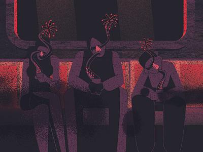 Datapus subway newyork character design motion animation animation vector flat design illustration