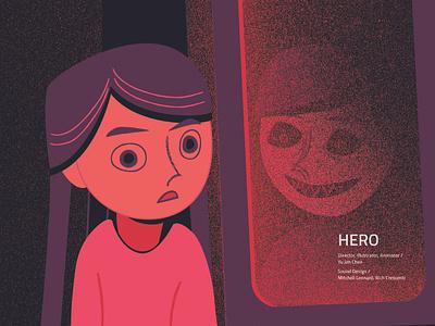 Demon in You subway girl character design motion animation animation anxiety flat vector design illustration