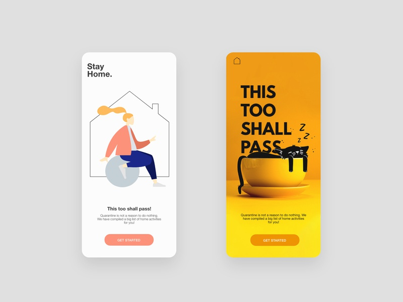 STAY HOME screen pastel layers layout fonts website branding animals dribbble ux mobile ui ui mobile app graphic app colors