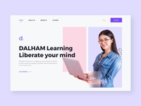DALHAM Learning- liberal art study platform arts education app webuiuxdesign webdesign website fonts illustraion design branding ux ui mobile app dribbble graphic app colors
