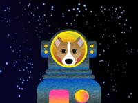 """Corgi in Space"""