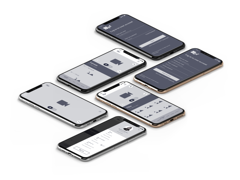 Isometric Wireframes ui photoshop isometric design ux design ux designer seattle