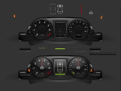 Game Car Dashboard