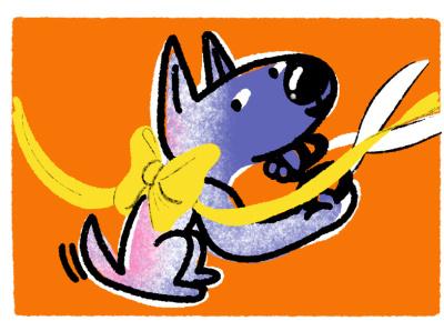 Step 4: Finish Line! illustration dogs dog