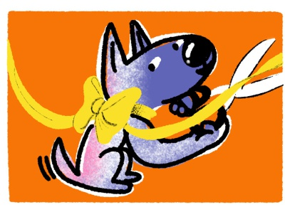 Step 4: Finish Line! illustrator ribbon dog