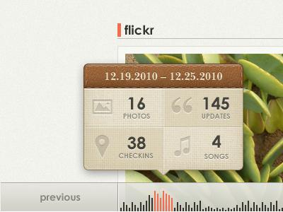 Glossi Timeline Interface ui texture leather cloth web app timeline