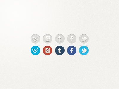 Social Icons for Glossi ui social icons twitter facebook foursquare tumblr instagram