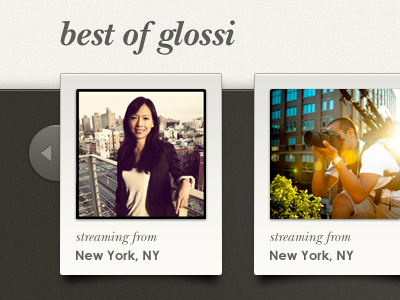 Best Of Glossi - Homepage ui photo slideshow