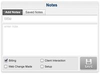 Notes Widget ui tabs web app button gray