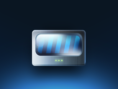 Converter icon converter virtual steal scheme technical thing something blue
