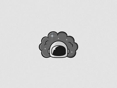 Space Smoke — Logo design space smoke cosmonaut astronaut stars helmet logo logo design branding logotype gray noise flare