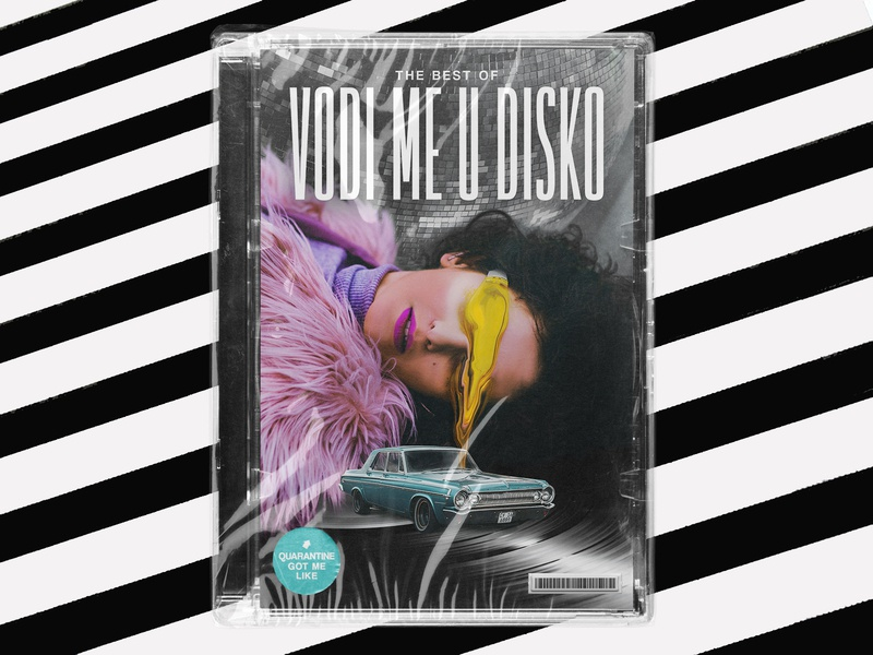 Take me to disco typography retro poster art poster illustration graphicdesign design collageart collage