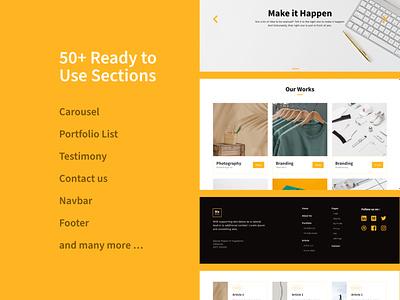 Makarya UI Kit - The Story Behind (Pt.3) landing page prototype ui kit design ui kit uiux website design user interface