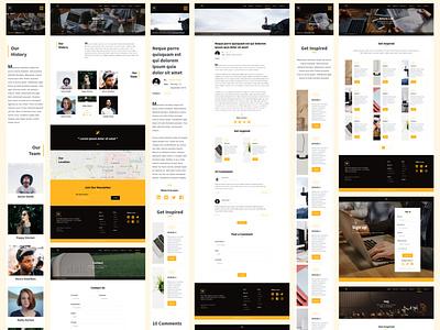 Makarya UI Kit - The Story Behind (Pt.6) ui8net ui kit design ui kit landing page uiux design bootstrap user interface website design user experience