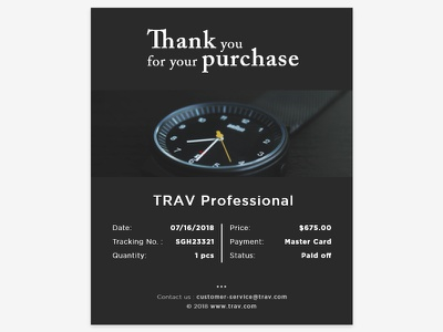 Daily UI #017 | Email Receipt product purchase email purchase user experience email content email receipt user interface