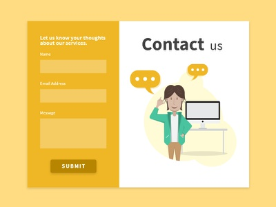 Daily UI #028 | Contact us user experience website design contact page user interface