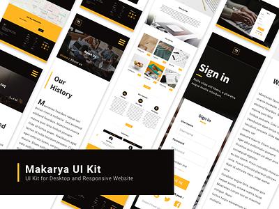 Makarya | HTML Website Template (Desktop & Responsive) white space typogaphy bootstrap responsive layout responsive design ui  ux website web ux ui design user experience user inteface